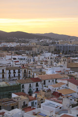 Ibiza Town at sunset, Eivissa - Spain