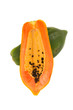 Papaya on whitebackground