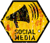 social media sign vector illustration