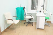 an empty doctor's consulting room