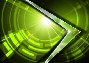 Glass and Metal - Green Abstract Background