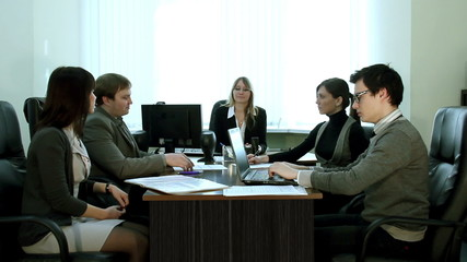 Meeting in the office