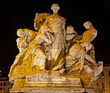 Rome -  Sculpture from Vittorio Emanuele bridge at night