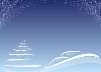 sfondo natalizio blu stilizzato stelline