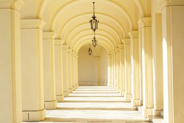 Hallway with arcades, Vienna, Austria