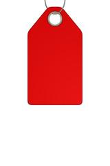 Rotes Preisschild, freigestellt,