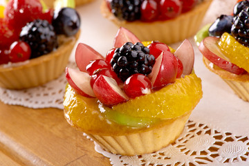 Baking with berries and fruits