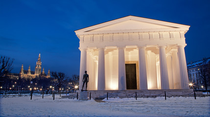 Vienna - Volksgarten. Theseus temple