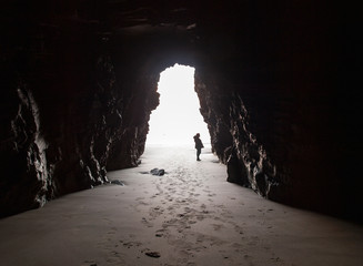 Inside the cave.