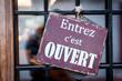 Panneau Entrez c'est ouvert - 59481677