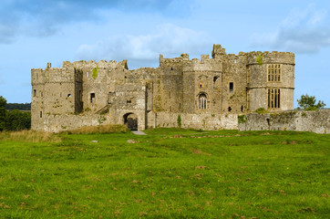 Carew Castle in the Pembrokeshire National Park – Wales