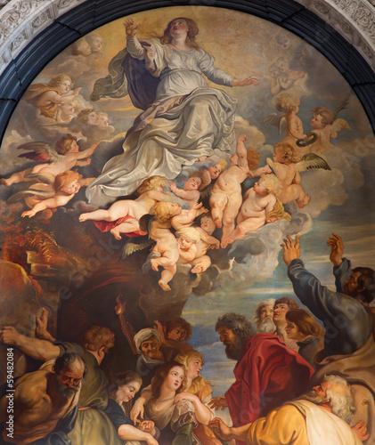 Antwerp -  The Assumption of the Virgin Mary after Rubens