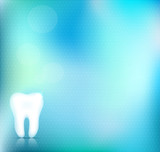 Healthy white tooth background design beautiful light blue color