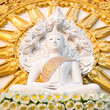 Sitting buddha on lotus flower