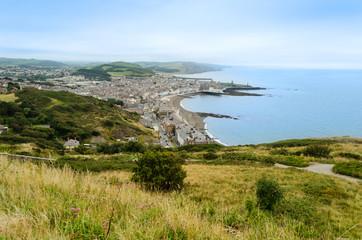 Aerial view of Aberystwyth - Wales, United Kingdom