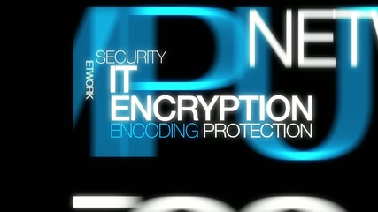IT Encryption encoding protection word tag cloud