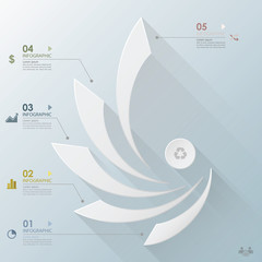 Modern Business Infographic Curve Propeller Origami Style Design
