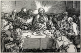 Lithography of Last supper of Christ by Albert Durer.