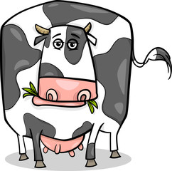 cow farm animal cartoon illustration