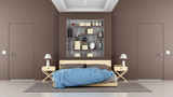 Fototapety Brown contemporary bedroom