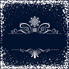 snow and swirl pattern background