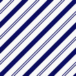 Navy Blue Diagonal Striped Textured Fabric Background