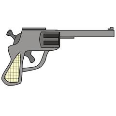 vector drawing of a gun