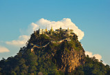 temple on top of a mountain Popa in the clouds, Myanmar