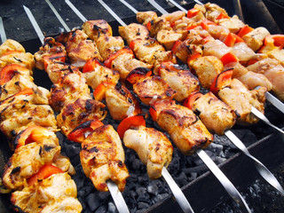 Traditional shish kebab