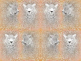 Leopard pattern with head