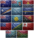 Flags of all Oceania countries, Collage