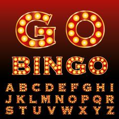 red bingo font