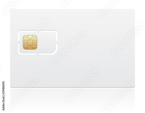 sim card vector illustration