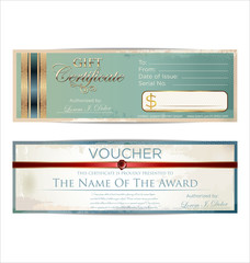 Voucher retro template