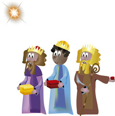 Nativity 3 Kings from Orient Far
