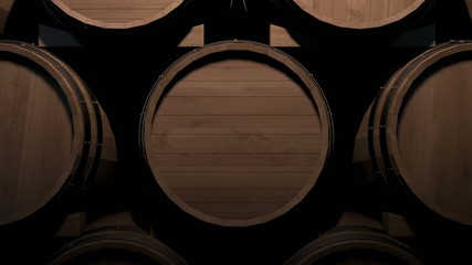 Wine barrels zoom