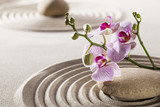 Fototapety pure wellness with zen orchids