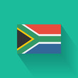 Flat flag of South Africa