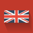 Flat flag of the UK