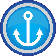 Круглый векторный знак с изображением якоря