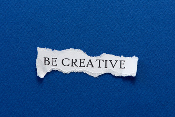 Be creative paper