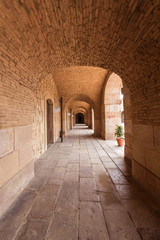 Corridor in old building