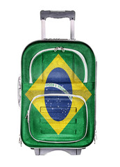 Travel suitcase, the concept of emigration.
