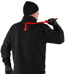 Burglar on white background