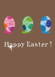 happy easter - greetingcard popart poster