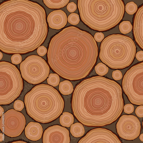Cut wood pattern seamless in vector