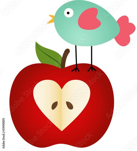 Bird on Apple
