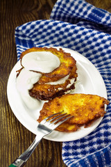 Homemade fried potato fritters
