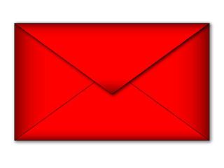Busta lettera rossa