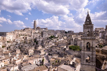 Streets of Matera in Italy
